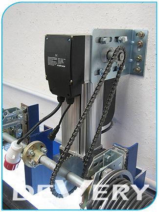 Puertas seccionales industriales devery motorizaci n y - Motor puerta garaje seccional ...